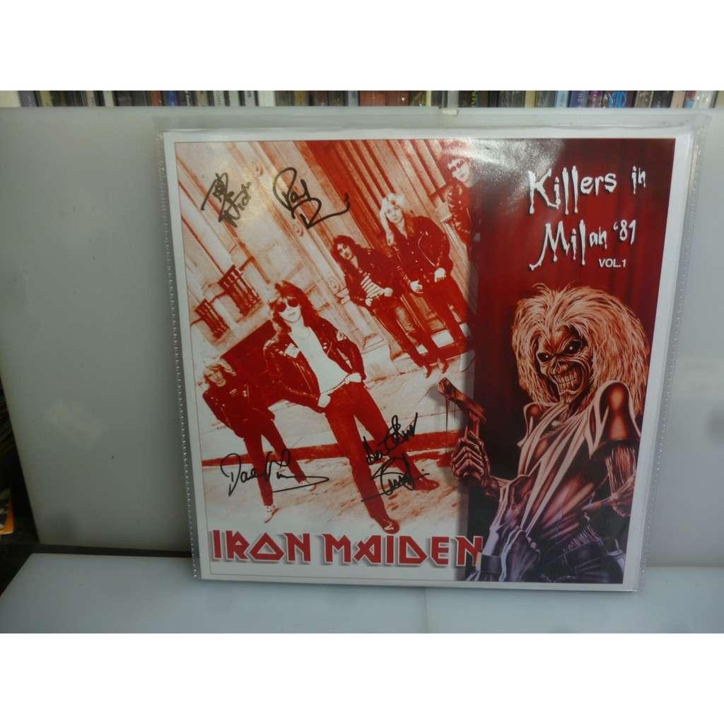 Iron Maiden Killers In Milan '81 vol. 1. Palalido, MIlan, Italy 1981. EU 2012 Orange Vinyl LP.
