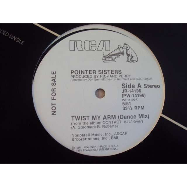 the pointer sisters Twist My Arm (Dance Mix 5'51) 1985 USA PROMO COPY (MAXIBOXLP)