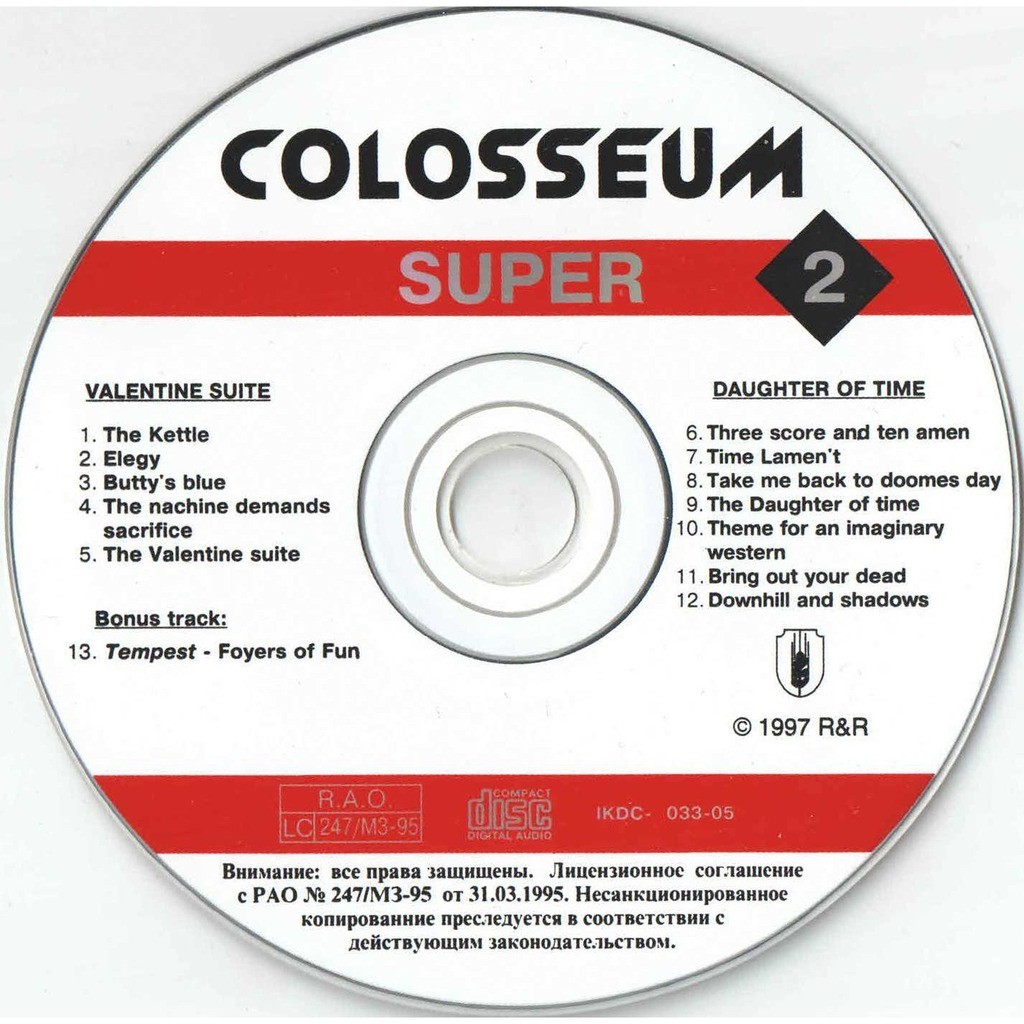 colosseum Valentine Suite / Daughter Of Time