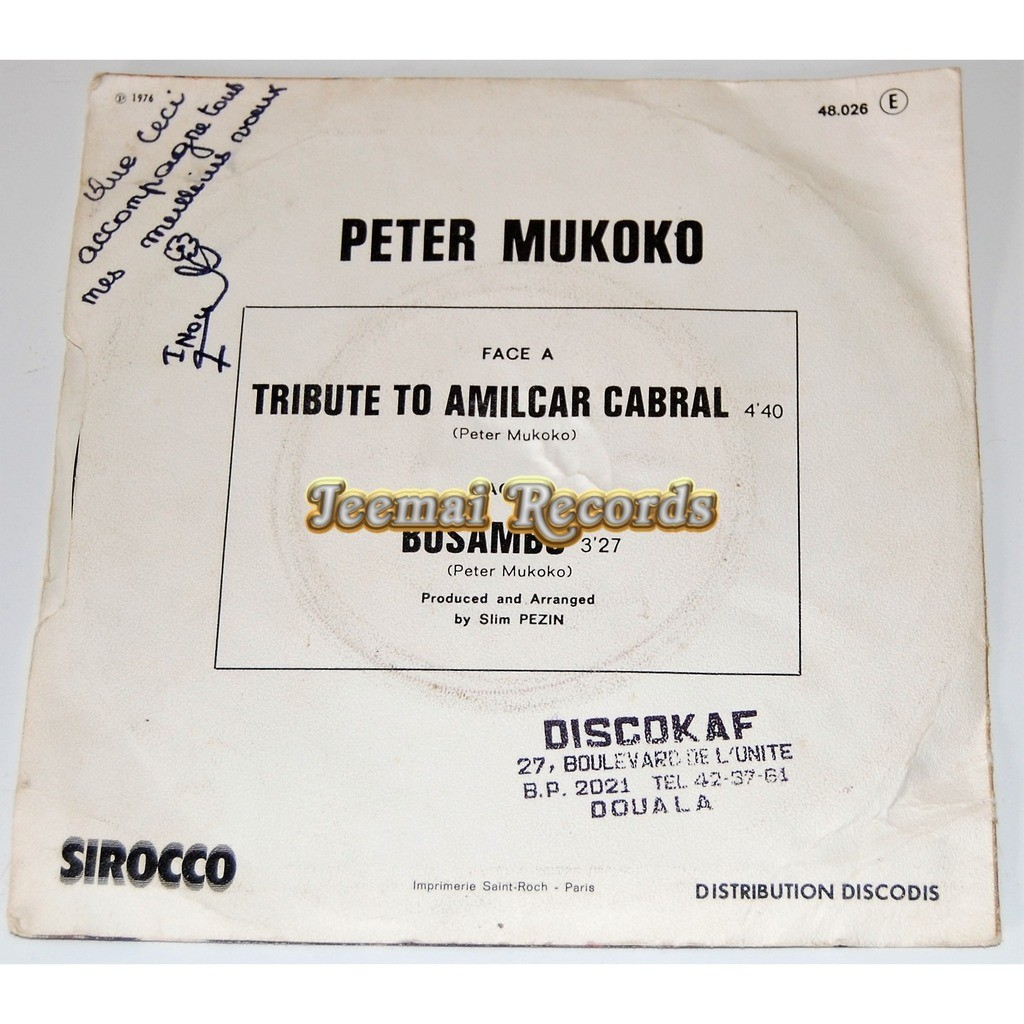 Peter Mukoko Tribute To Amilcar Cabral / Bosambo