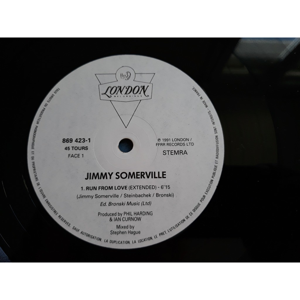 Jimmy Somerville - Run From Love (12) Jimmy Somerville - Run From Love (12)