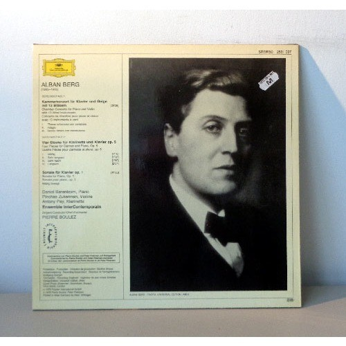 DANIEL BARNEBOIM & PIERRE BOULEZ & PICHAS ZUKERMAN ALBAN BERG chamber music