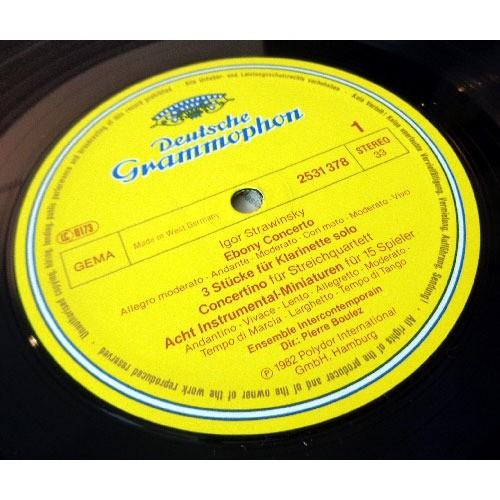 PIERRE BOULEZ & ENSEMBLE INTERCONTEMPORAIN STRAVINSKY chamber works ( ebony concerto - dumbarton oaks )