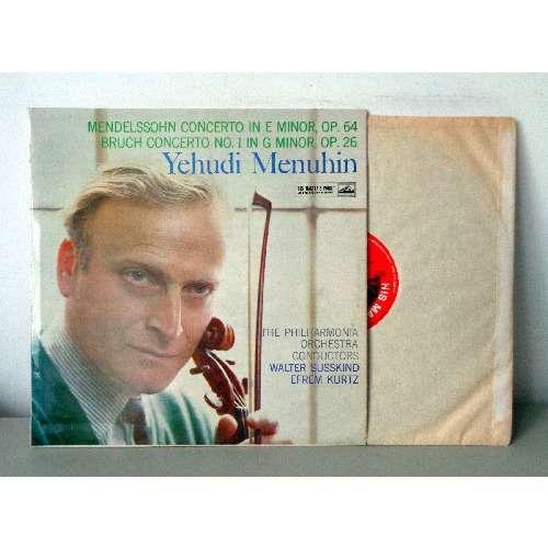 YEHUDI MENUHIN & EFREM KURTZ MENDELSSOHN & BRUCH violin concertos
