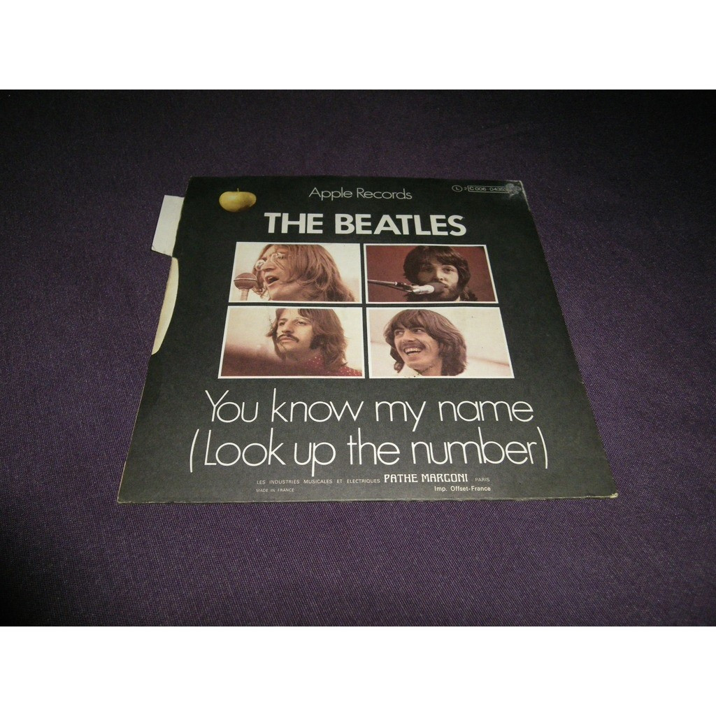 the beatles Let it be / you know my name (look up the number)