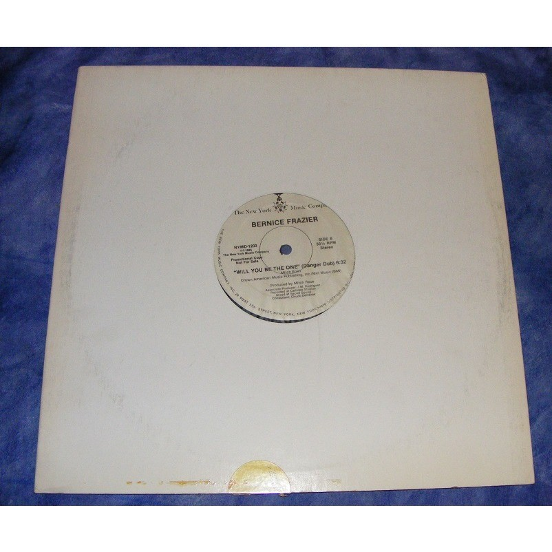 BERNICE FRAZIER promo copy will you be the one / danger dub