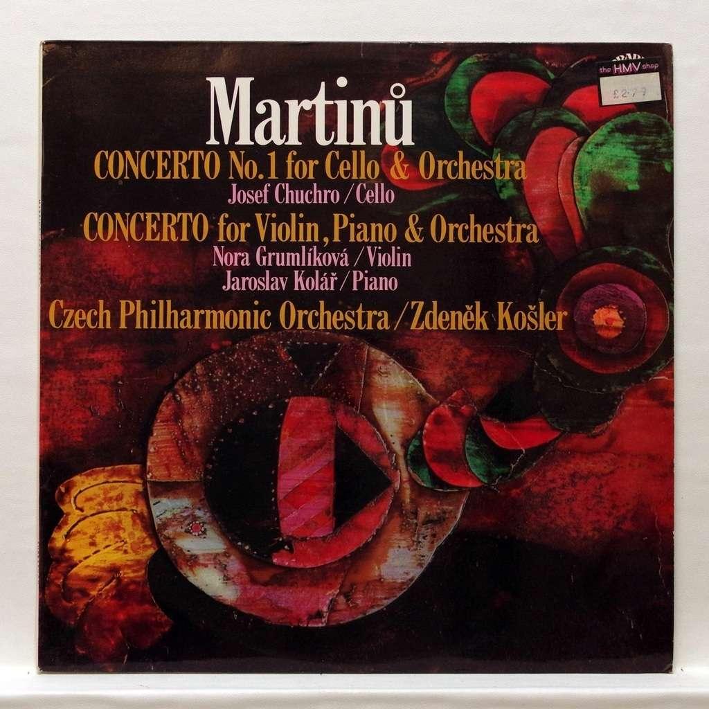Josef Chuchro / Nora Grumlikova / Kolar Martinu : Concerto no.1 for Cello / Concerto for Violin & Piano