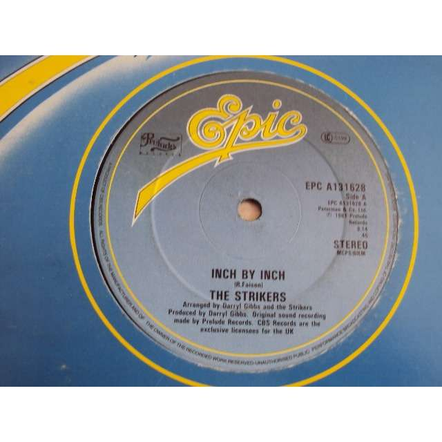 THE STRIKERS INCH BY INCH (VOCAL 8'14) 1981 UK (MAXIBOXLP)