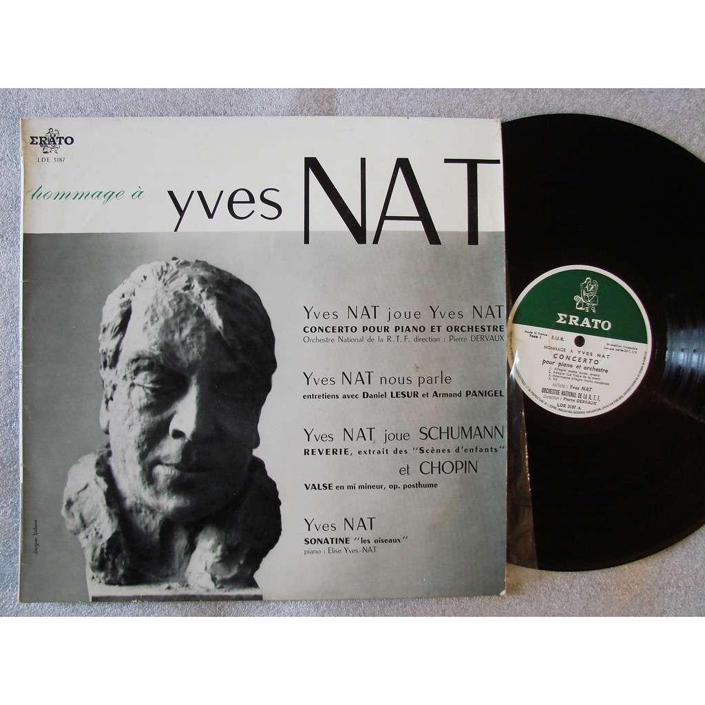 Yves Nat - A. Panigel - D. Lesur - P. Dervaux hommage : Yves Nat nous parle et joue son concerto pour piano & sonatine puis Schumann et Chopin