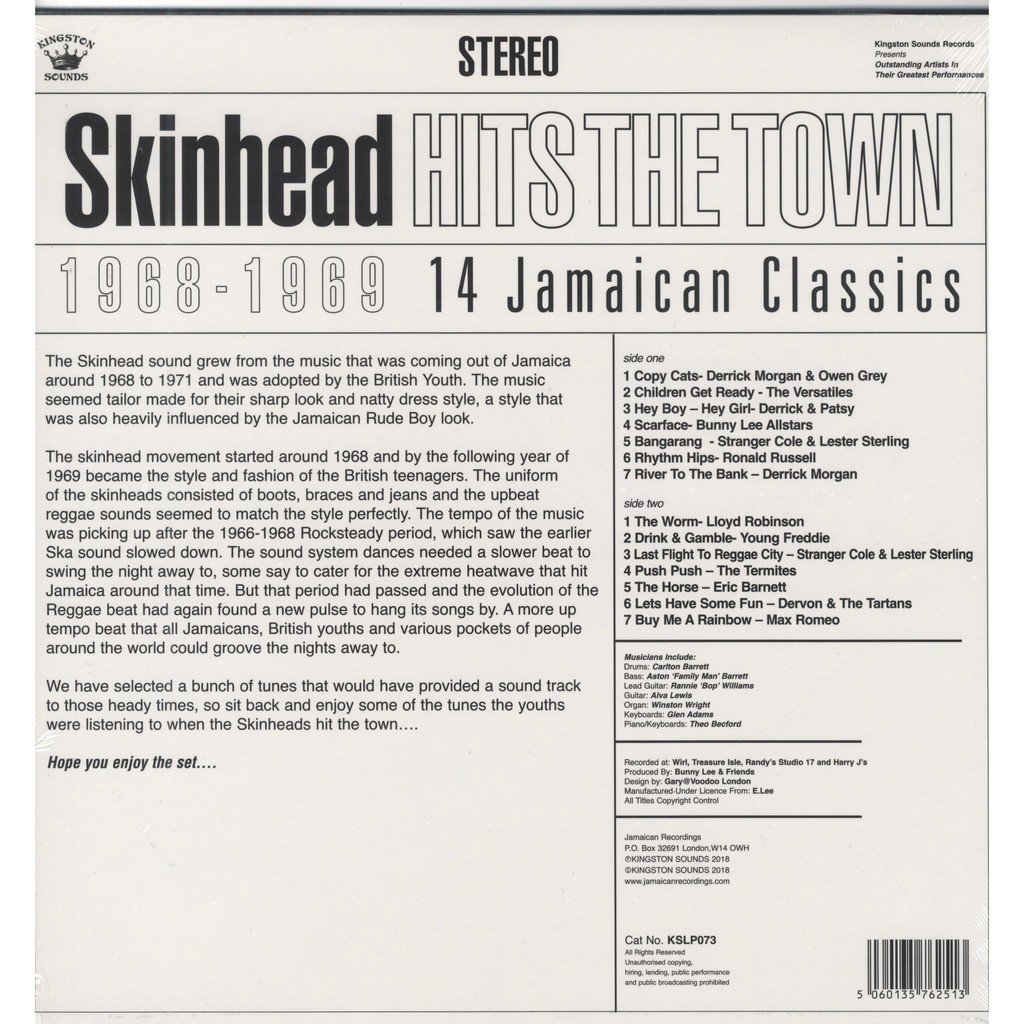 Various Artists Skinhead Hits The Town 1968-1969