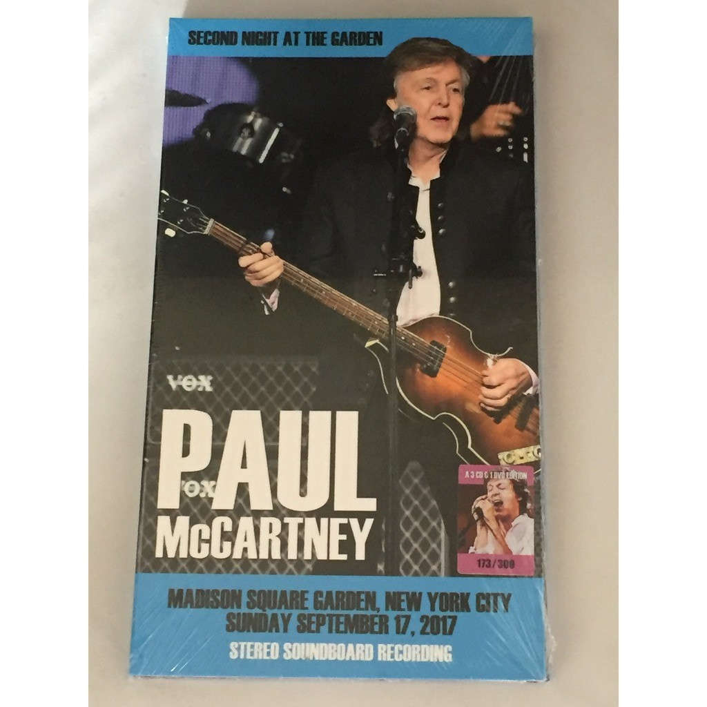 Second Night At The Garden In New York City 2017 De Paul Mccartney Cd Dvd Con Bringemhome71