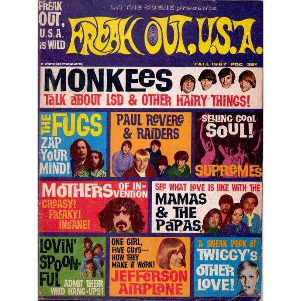 freak out u s a fall 1967 usa 1967 zappa front cover freak music