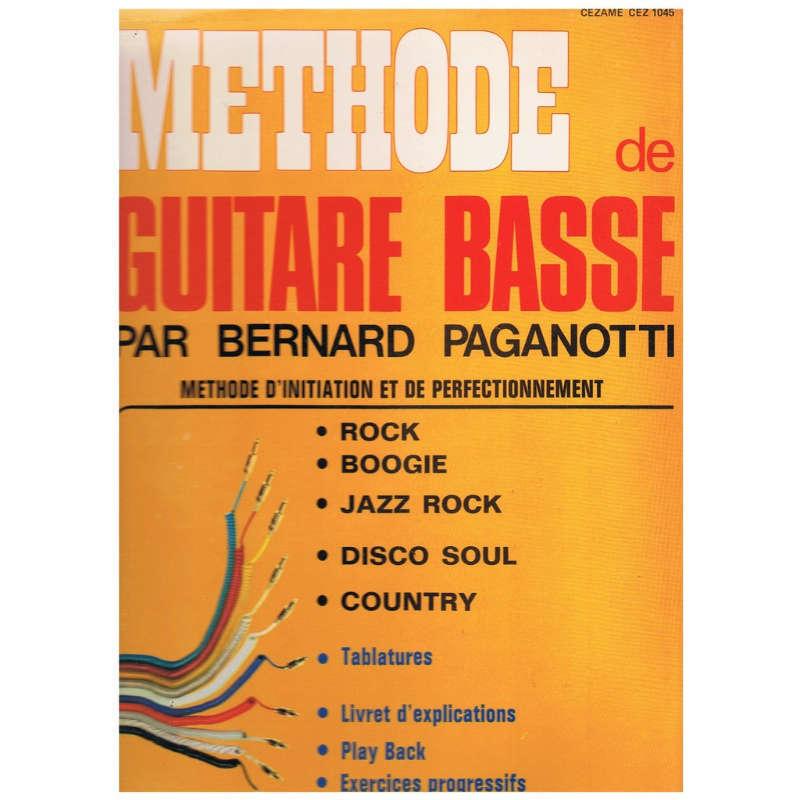 BERNARD PAGANOTTI METHODE DE GUITARE BASSE -no booklet-