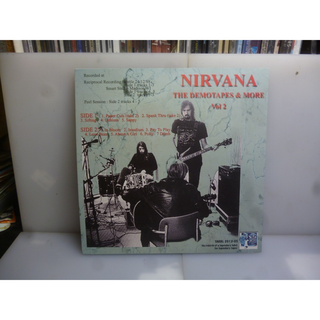 Nirvana The Demotapes & More Vol. 2. Seattle, USA 1988/Madison, USA/Peel Session. EU 2016 Orange Vinyl LP.
