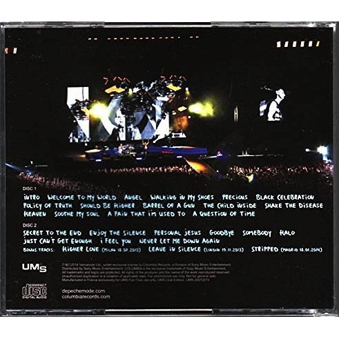 DEPECHE MODE Recorded Live at Roma Stadio Olimpico Rome Italy 2013 Bonus Delta Machine Tour 2CD