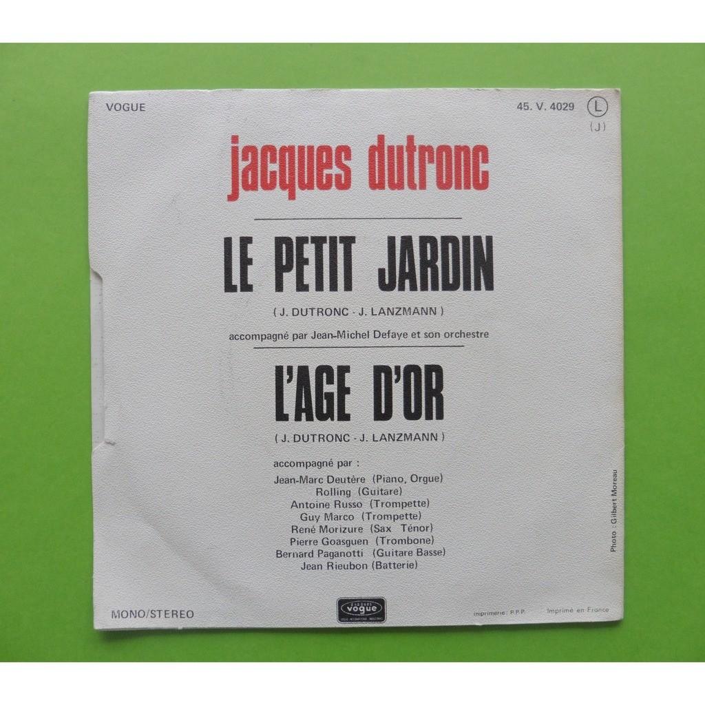 Le petit jardin / l\'age d\'or by Jacques Dutronc, SP with leshauts78 ...