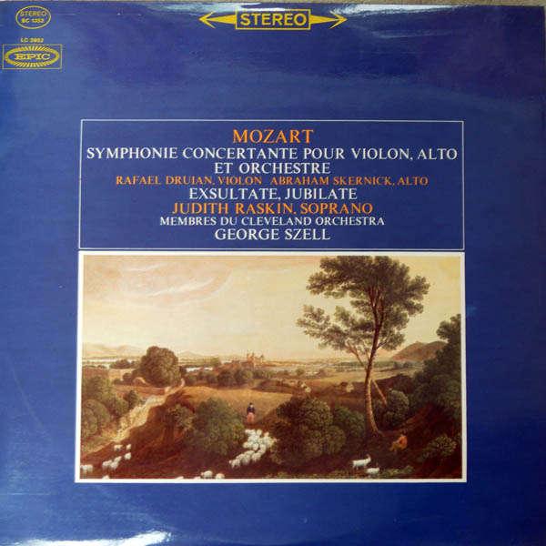george szell Mozart : Symphonies Concertante en mi bémol majeur