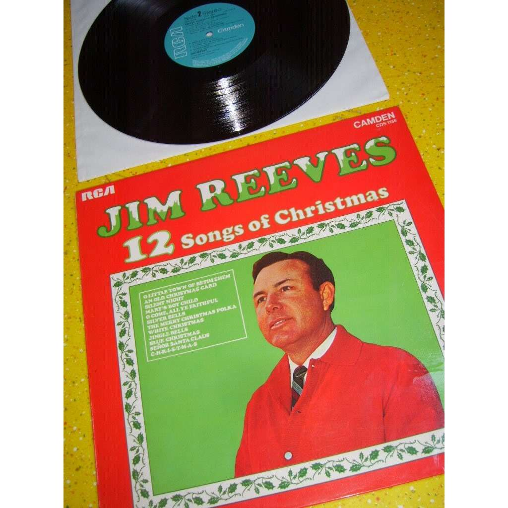 12 songs for christmas by Jim Reeves, LP with hi-vinyl - Ref:3079900310