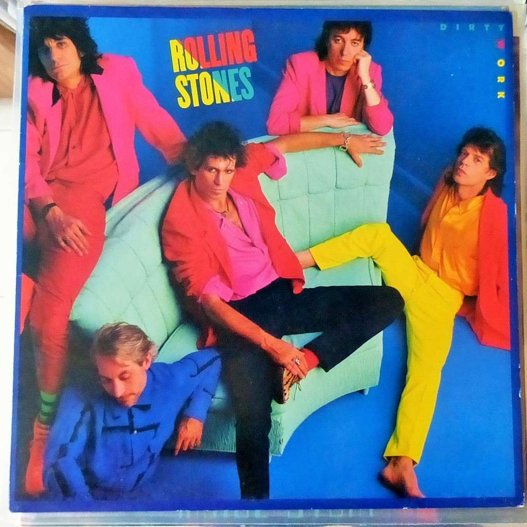 Dirty work by The Rolling Stones, LP with blackcircle