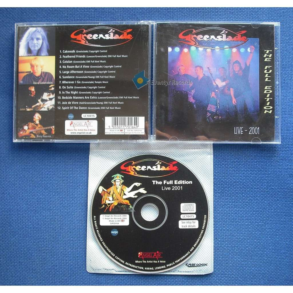 GREENSLADE LIVE 2001 - THE FULL EDITION (used)