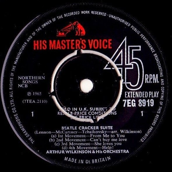 BEATLES / ARTHUR WILKINSON - BEATLE CRACKER SUITE (U.K. PRESSING 2 TRK VINYL 7 SINGLE)