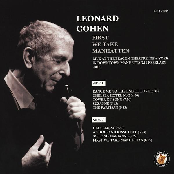 Leonard Cohen First We Take Manhatten (lp)