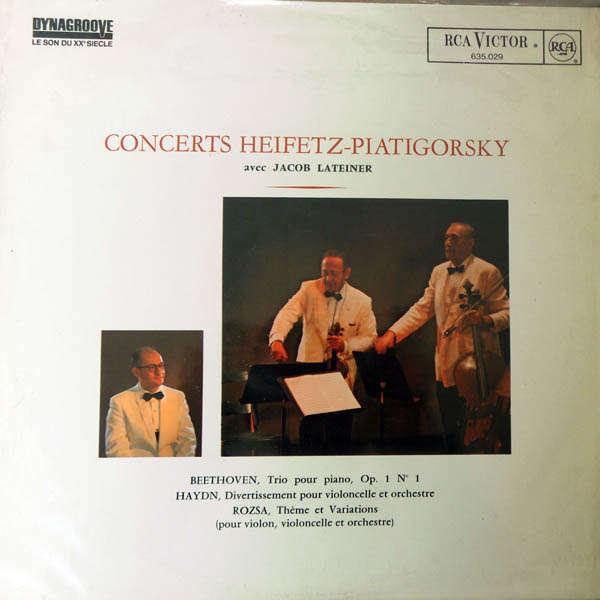 Jascha Heifetz & Gregor Piatigorsky Concerts Heifetz -Piatigorsky
