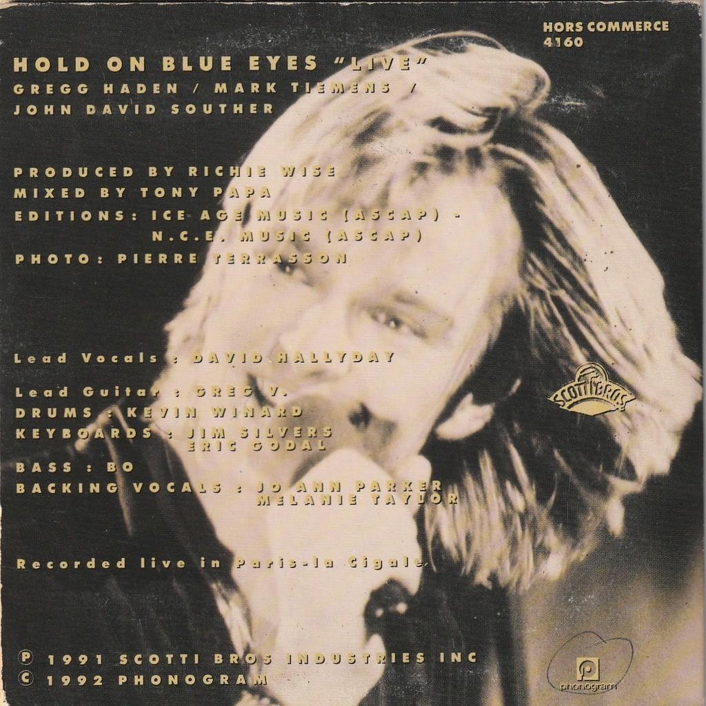 David Hallyday Hold on blue eyes (Radio Promo Live Edit)
