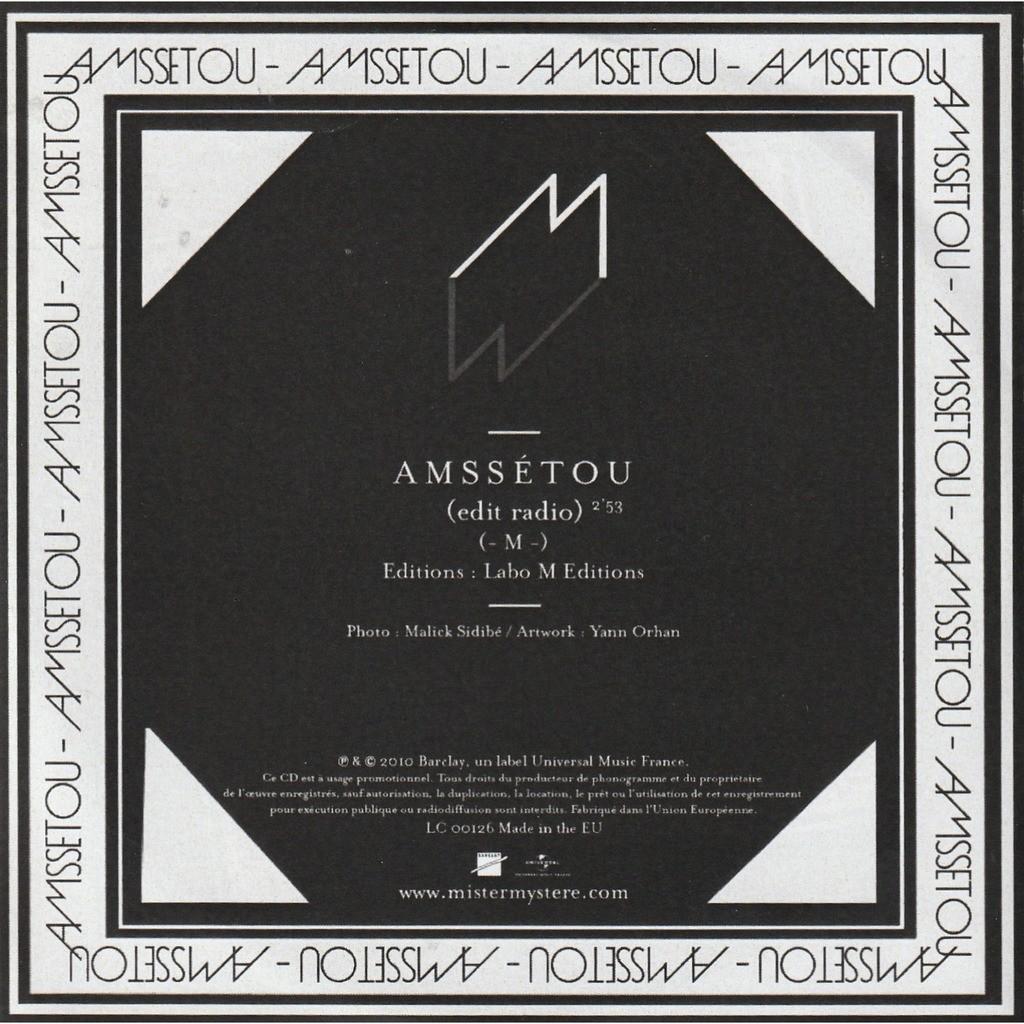 M (Mathieu Chédid) Amssetou (radio edit)
