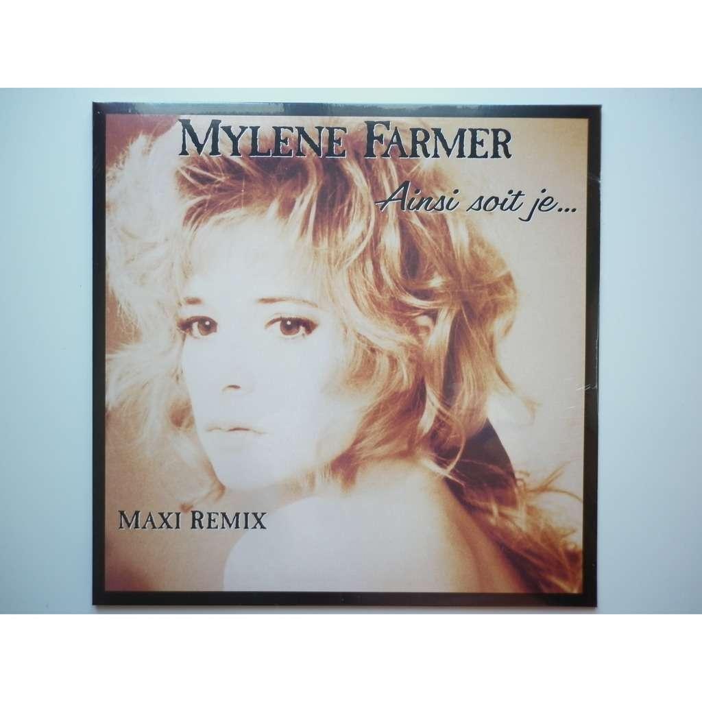 Mylene Farmer Ainsi Soit Je réédition