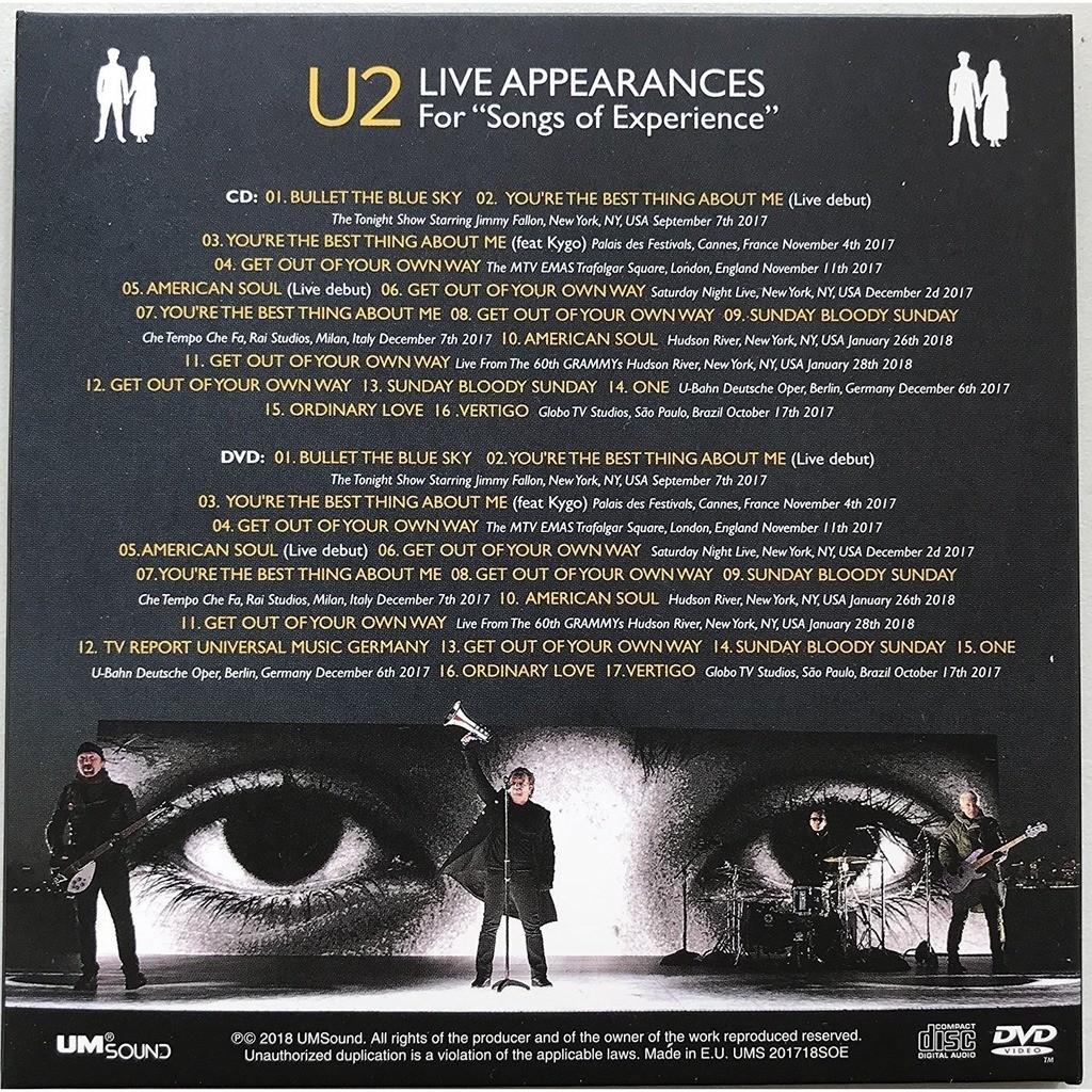 U2 Songs Of Experience Album