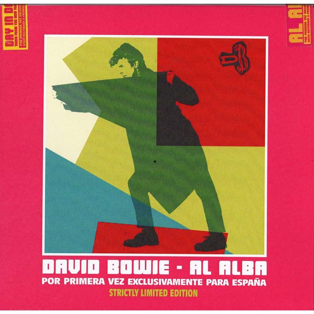 david bowie Al Alba (Day In Day Out) (Spanish Ltd 100 copies promo 4x 7singles COLOR wax BOX unique package ps)