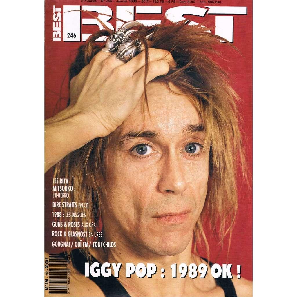 IGGY POP - RITA MITSOUKO - GUNS & ROSES BEST n° 246 / #246 (janvier 1989)