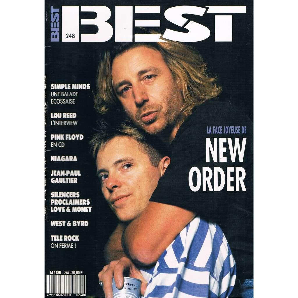 NEW ORDER - SIMPLE MINDS - LOU REED BEST n° 248 / # 248 (mars 1989)