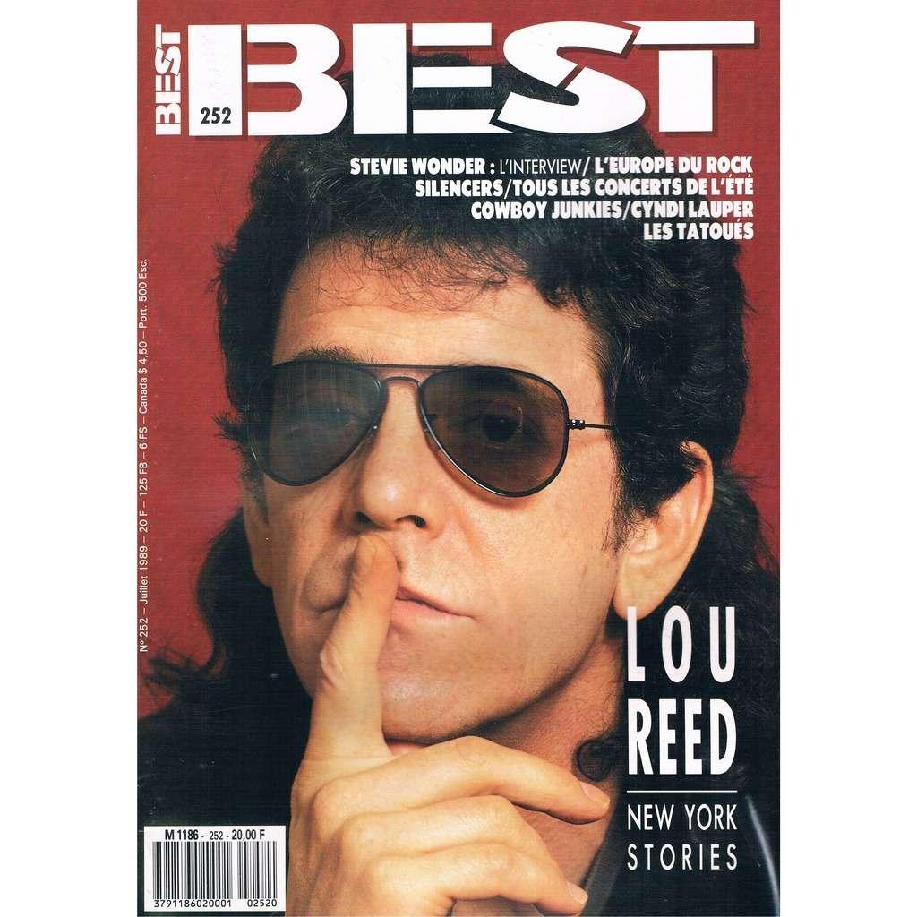 LOU REED - SILENCERS - STEVIE WONDER BEST n° 252 / #252 (juillet 1989)