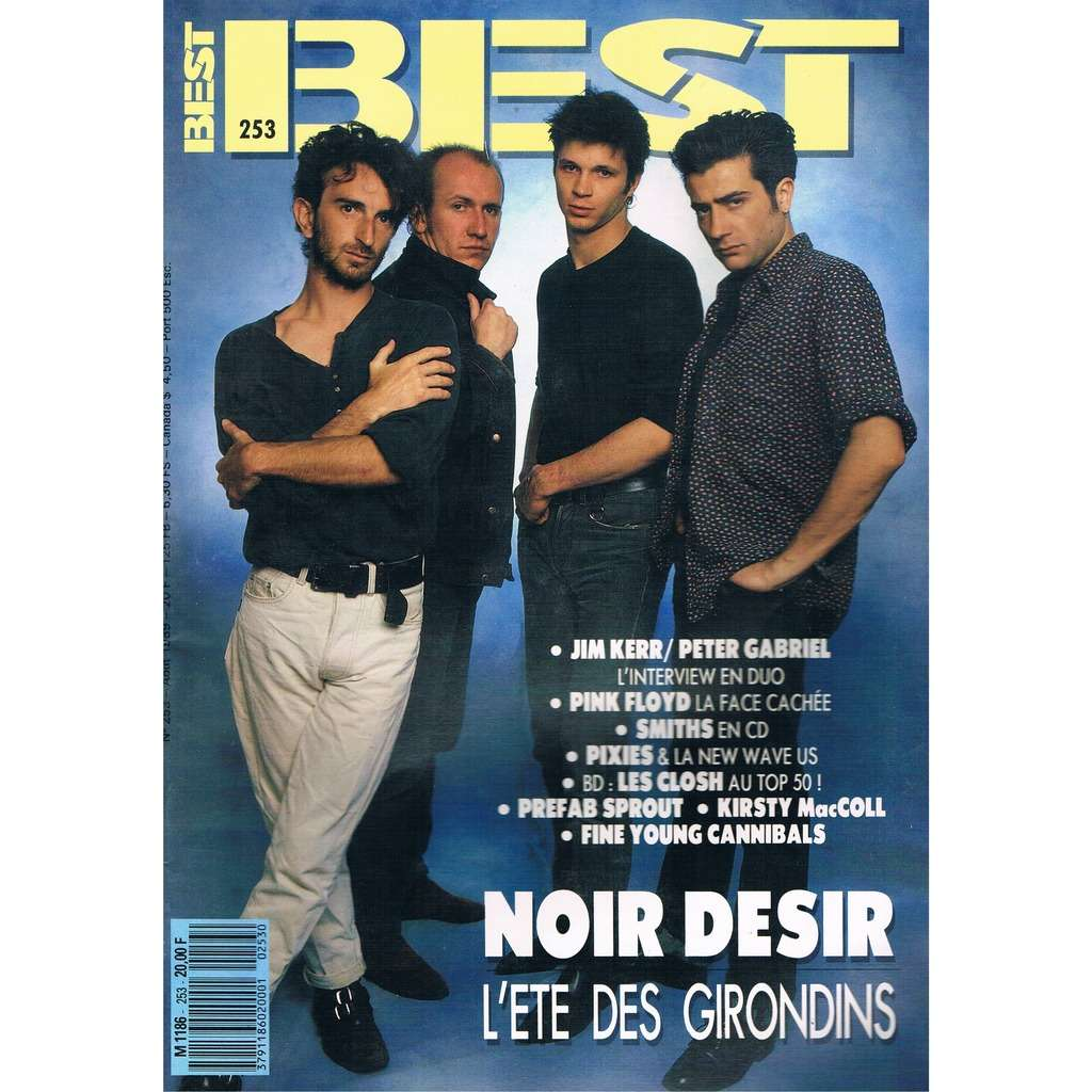 NOIR DESIR - PINK FLOYD - PIXIES BEST n° 253 / #253 (aout 1989)