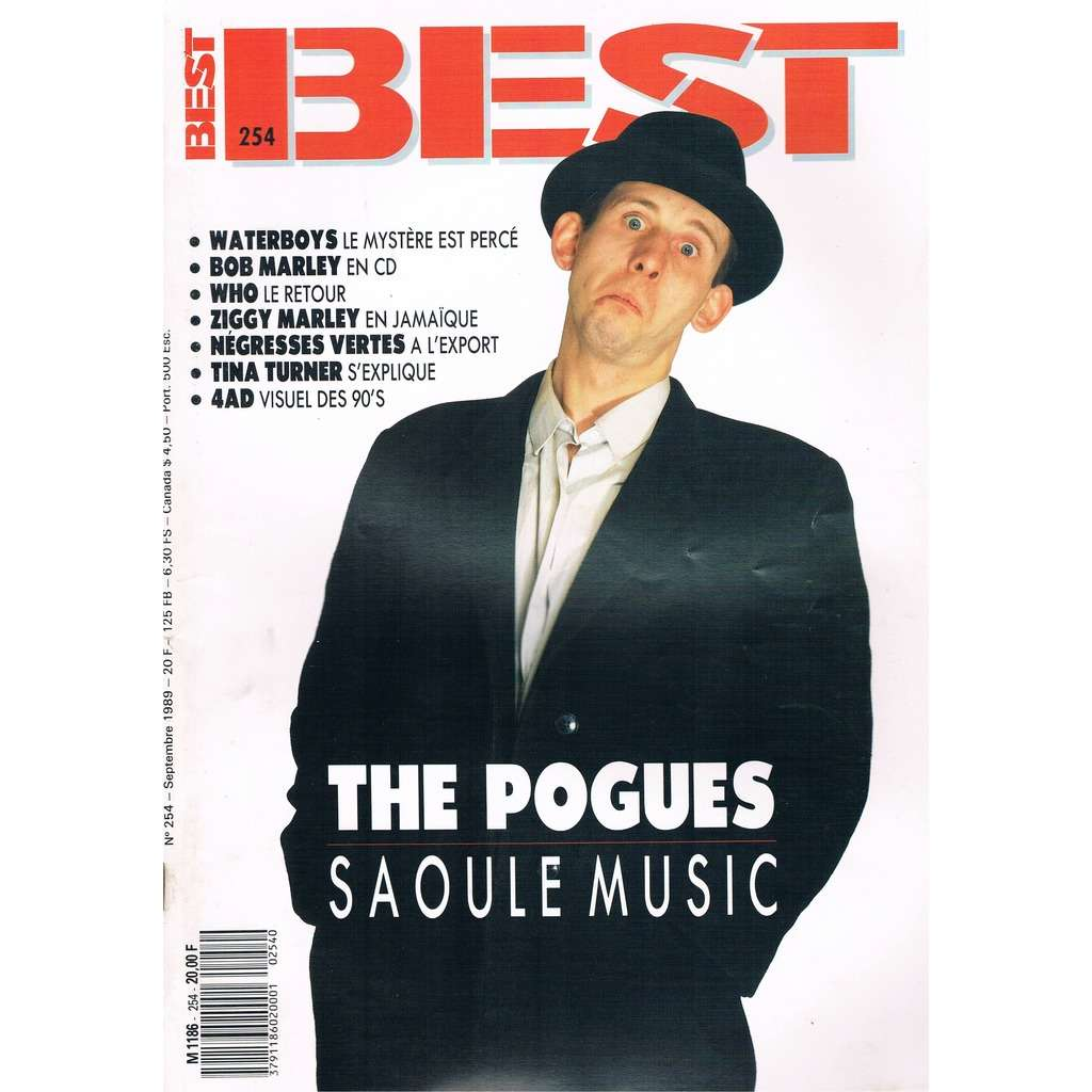 POGUES - WHO - TINA TURNER BEST n° 254 / #254 (septembre 1989)