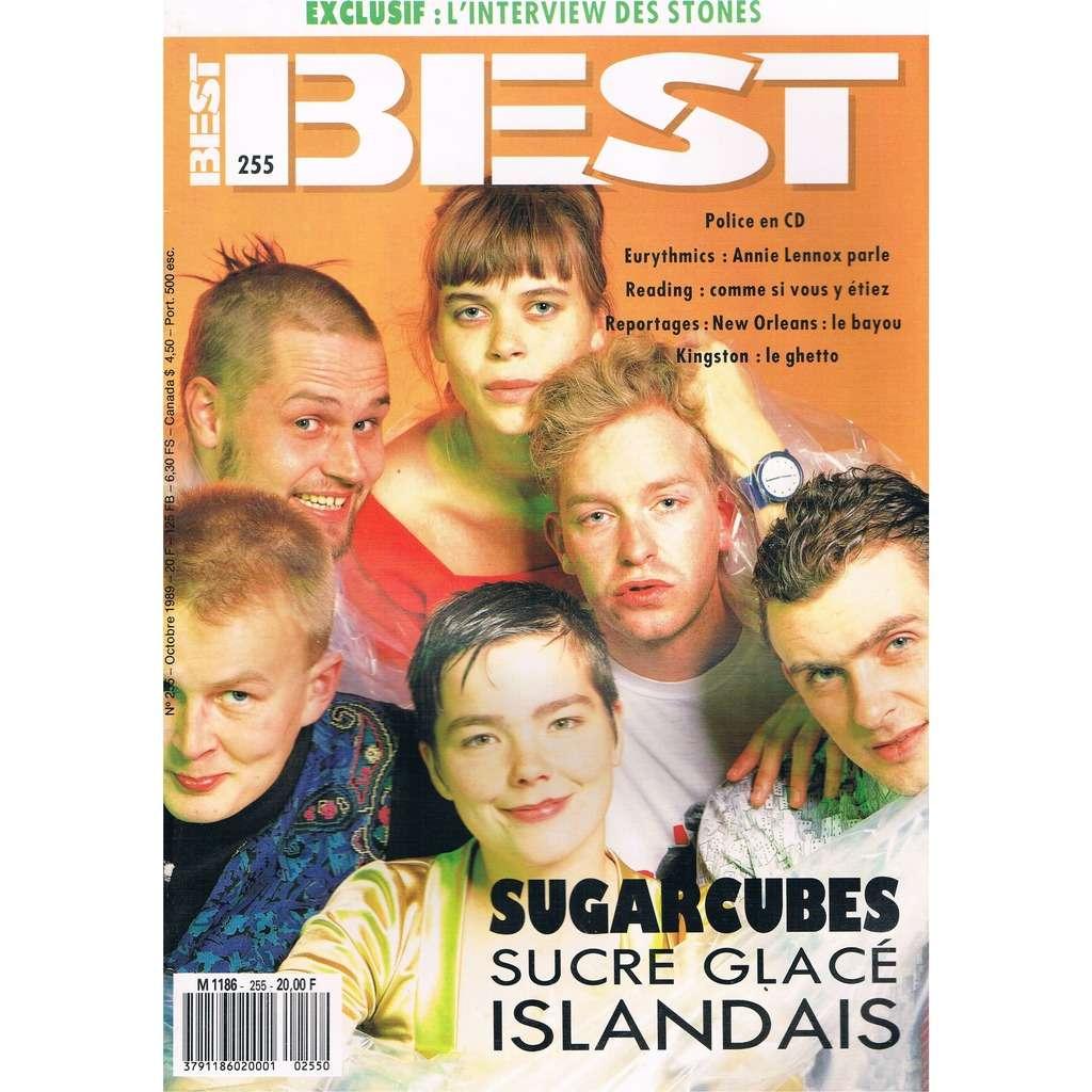 SUGARCUBES - EURYTHMICS - ROLLING STONES BEST n° 255 / #255 (octobre 1989)