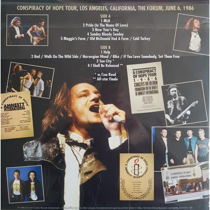 U2 A Conspiracy Of Hope (lp) Ltd Edit Colored Vinyl -E.U