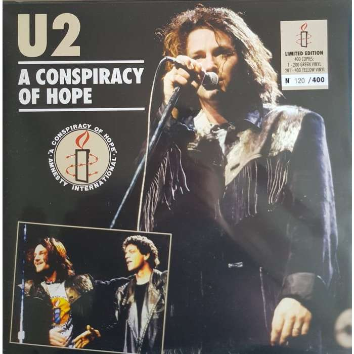 U2 A Conspiracy Of Hope (lp) Ltd Edit Colored Vinyl -E.U