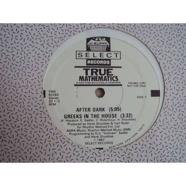 true mathematics AFTER DARK / GREEKS IN THE HOUSE 1987 USA PROMO COPY (MAXIBOXLP)