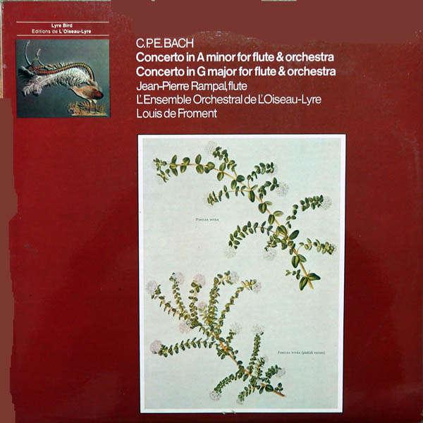 Louis De froment C.P.E.Bach : Concerto in A minor for flute
