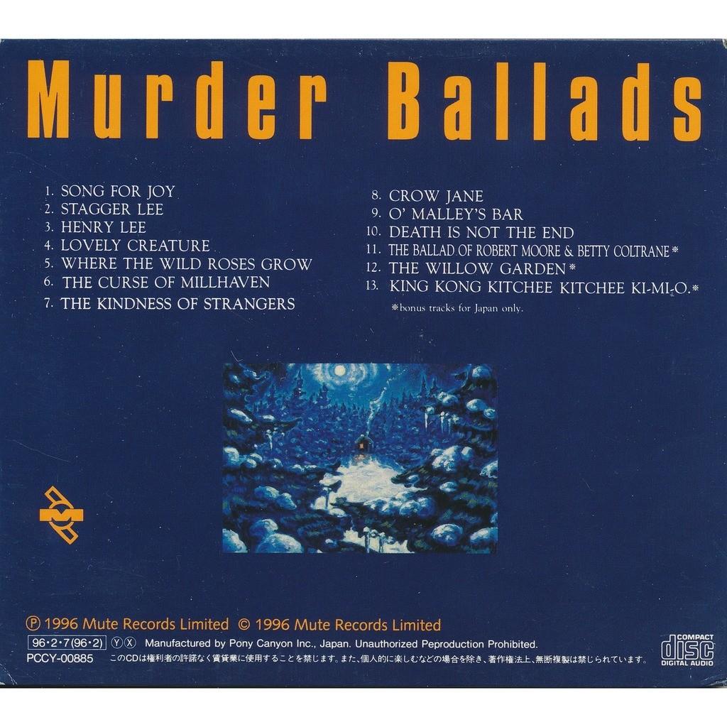 Nick Cave & The Bad Seeds Murder Ballads (Japan, Promo)