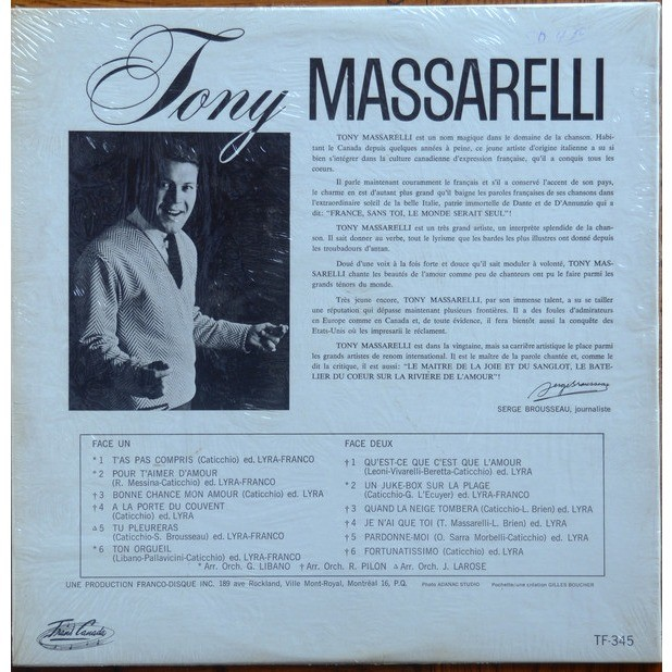 tony massarelli tony massarelli - t'as pas compris