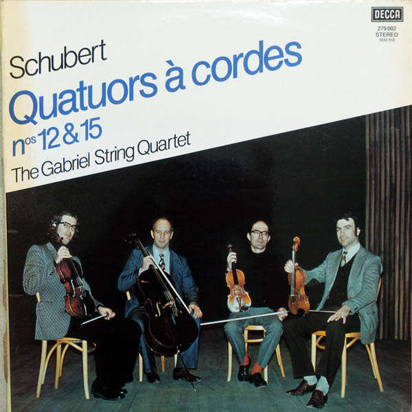 The Gabriel String Quartet Schubert : Quatuors à cordes n°12 & 15
