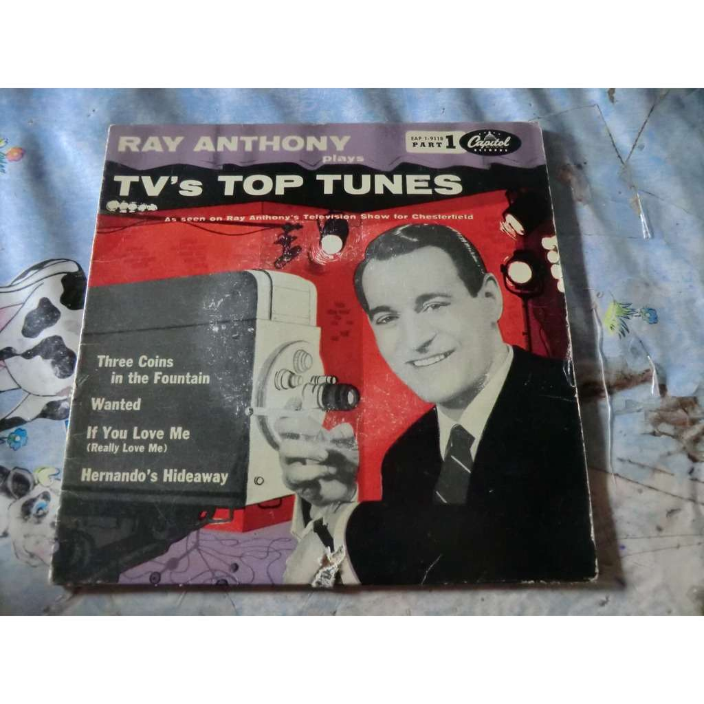 Ray ANTHONY and His ORCHESTRA TV'S Top Tunes (rare original French press - 1950s)