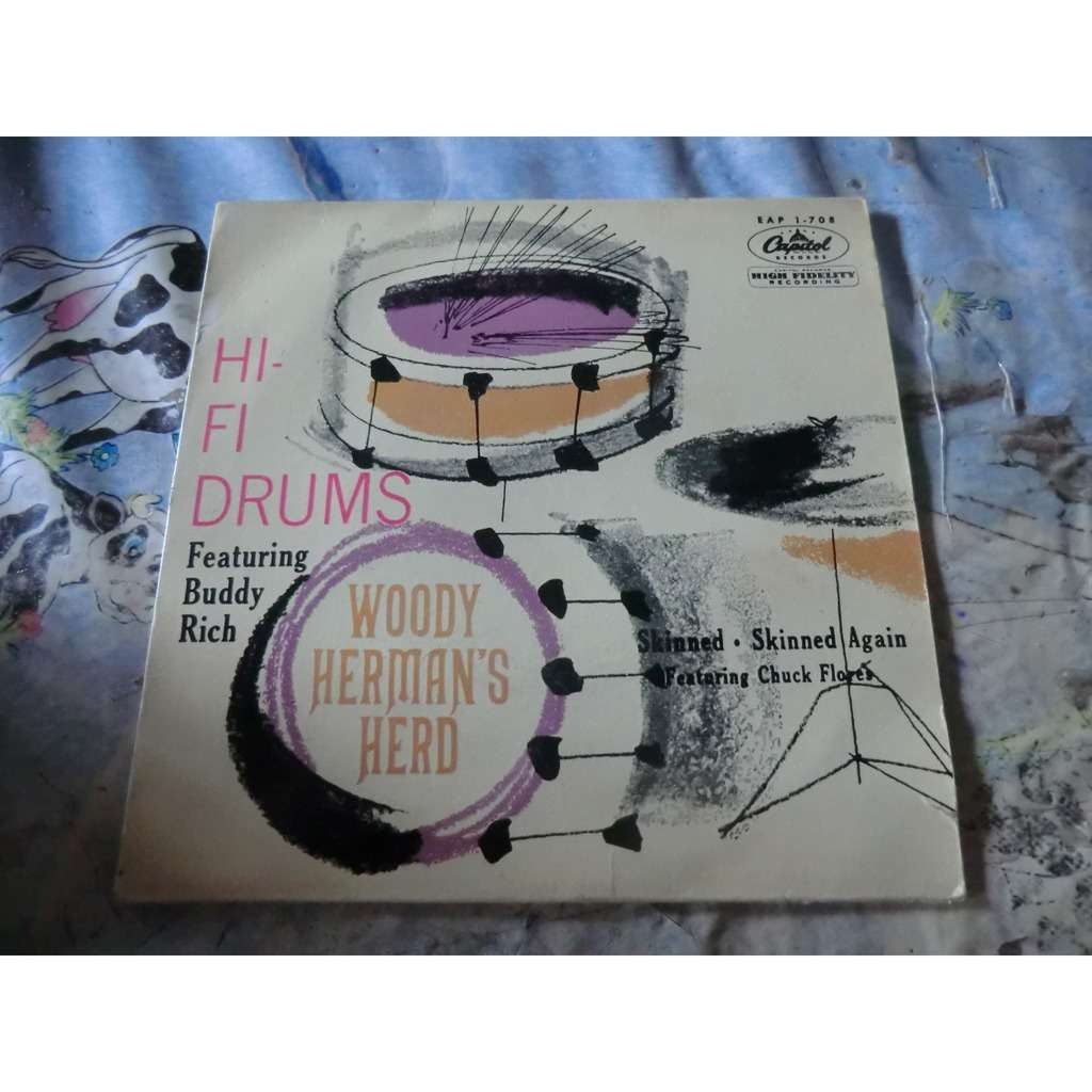 HI-FI DRUMS Woody Herman's HERD & Buddy RICH Hi-Fi Drums + 2 (rare original French press - 1956)