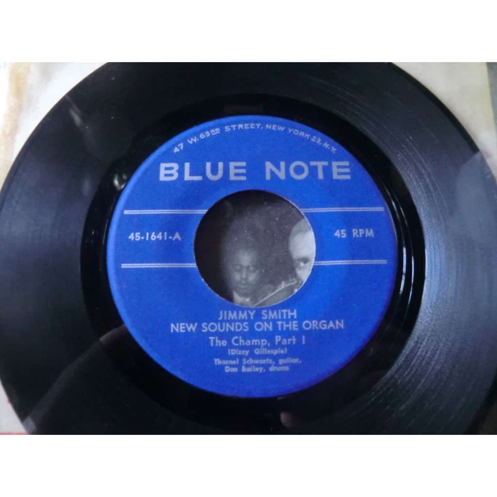 Jimmy SMITH NEW SOUNDS ON THE ORGAN The Champ. Part 1& 2 (rare original single - USA press - 1956)