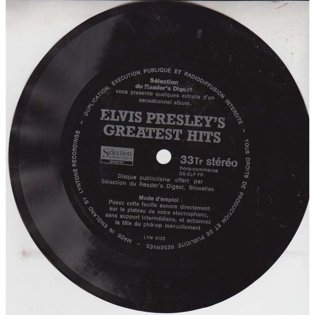 ELVIS PRESLEY BRIAN MATTHEW INTRODUCES EXCERPTS FROM ELVIS s GREATEST HITS UK Black Flexi EX
