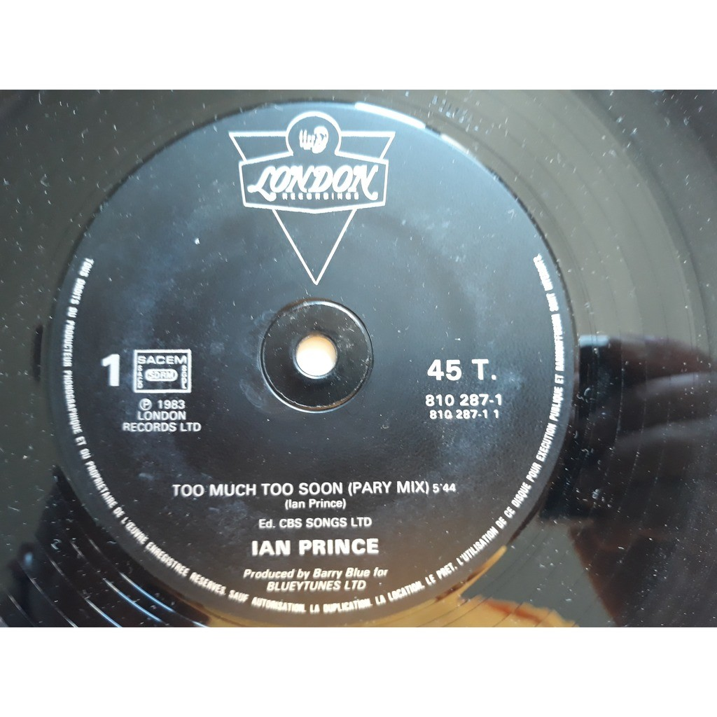 Ian Prince - Too Much Too Soon (12, Maxi, Promo) Ian Prince - Too Much Too Soon (12, Maxi, Promo)